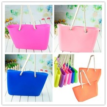 2015 new fashionable jelly silicone beach bag,silicone shoulder bag