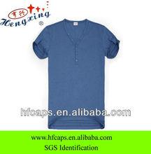 2013 fashion bulk V-neck men blank cotton T-shirt