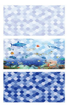 blue and white wall tile, blue background wall tile, glazed mosaic swimming tile, 30*60