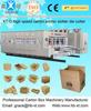 lead edge feeding automatic 4 color corrugated carton printer slotter die cutter machine