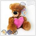 venda quente de estimação produto coração de pelúcia brinquedo