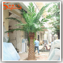 Fibra de vidrio exterior Artificial de cultivo de tejidos date palm tree date palm precios