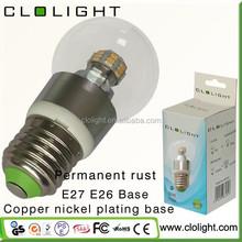 aluminium led bulb lamp 3W LED bulb light sliver color