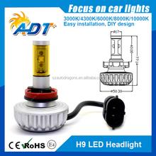 Patent design ! 360degree DC10-32V 6000lm H1 H3 880 881 led auto headlight, H7 H8 H9 H11 H16 5202 9005 9006 auto led headlight