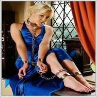 Fashion stainless steel hand and ankle cuff/manacle/restraints/bondage gear/sex product for couple fun game