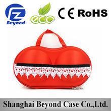 New products for 2015 wholesale portable bra shaped bag, bra bag eva