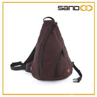 2014 hottest durable canvas triangular backpack, fashion sling bag