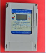 postpaid type three phase watt hour meter lcd for price