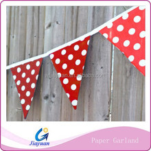 3 Meters Baby Shower Decor Printed Red Paper Flag Banners