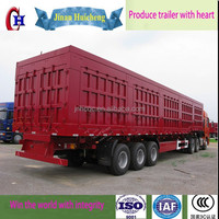 China manufacture heavy duty contruction material tipping semi trailer