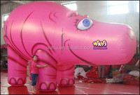 Pink inflatalbe hippo/4M/giant inflatable animal cartoon