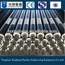 polyurethane thermal insulation materials filled hdpe pipe coated carbon steel pipe for hot water supply