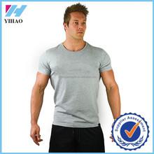 Trade Assurance 2016 Yihao Mens Custom Gym fitness Print Clothing Tee shirt Blank bodybuilding muscle tee mens gym t-shirt men