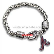 Vnistar sport team Letter A charm bracelet in 20cm VSB506