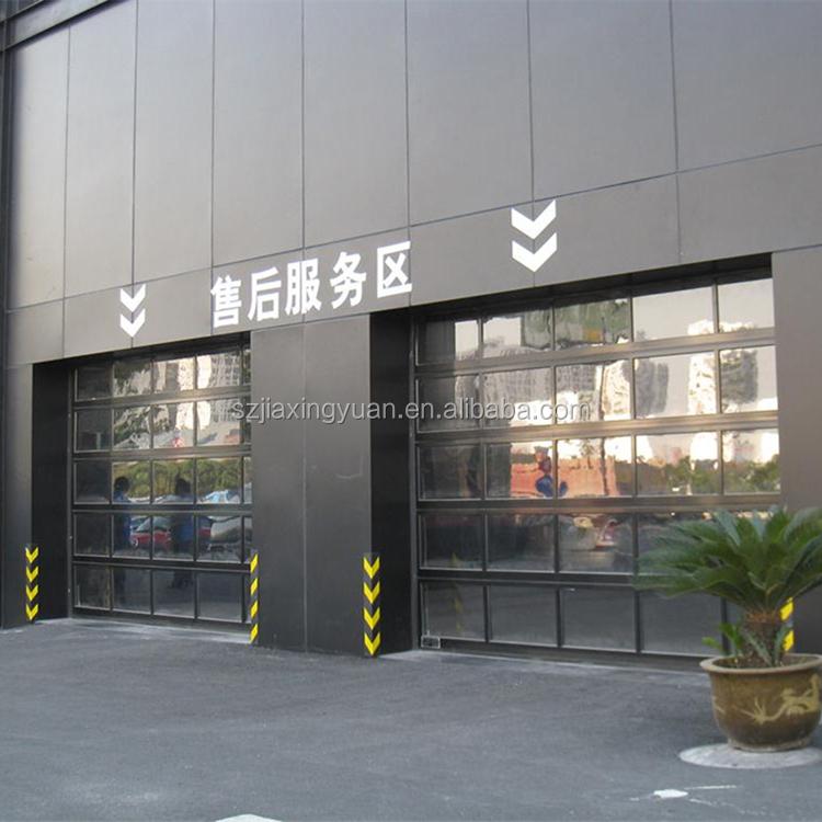 Alluminio sezionali coibentati trasparente di vetro porta - Porta del garage ...