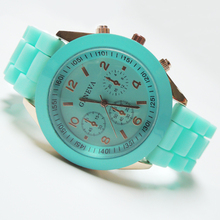 Colorful New Geneva Silicone Jelly Watch/Jelly Wrist Watch/Latest wrist Silicone Watch For girls
