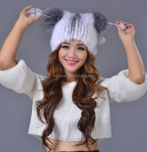 2015 women vintage cable knit beanie with ball canada winter hats