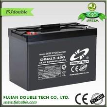 sealed maintenance free 12 volt solar battery 100ah