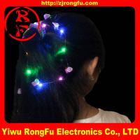 Fiber Optic flashing rose hair LED rose hair glow in the dark