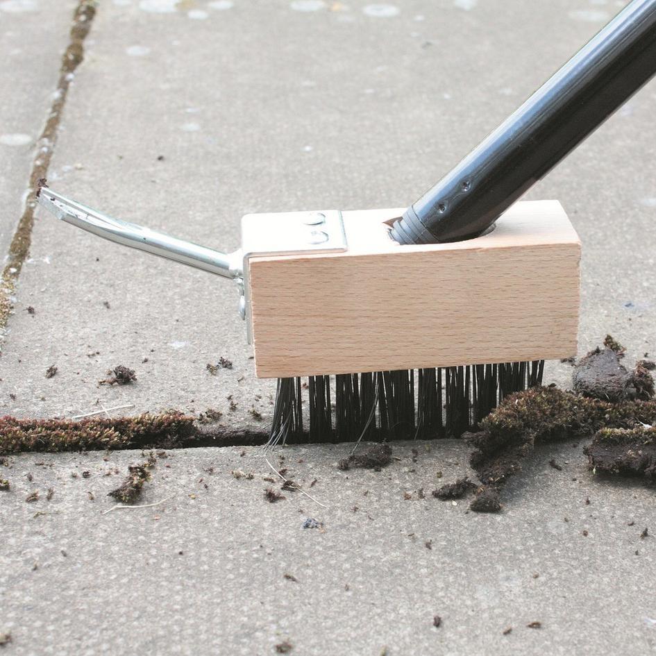 balai mauvaises herbes cleaner avec 08 m poignée terrasse brosse