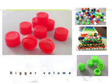 Colorful round shape non-stick silicone container for wax Bho oil butane vaporizer silicon jars dab wax container