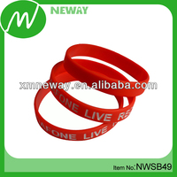 Promotion silicone rubber cheap engraved bracelets