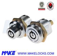 MK500-1 High security pin tumbler Tubular Key system push lock