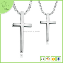 Pure Steel with Chain Surround Love Cross Necklace Couple Titanium Steel Necklace