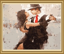 40*50cm dance couple painting, oil painting by number
