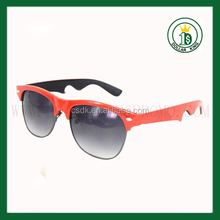 2015 hot sell Beer bottle opener sunglasses for promotion party ,funny custom sunglasses with UV 400