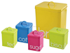 Colorful High Quality Set of 5 Metal Storage box canister Metal Kitchenware Sundries Collector