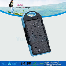 cheap solar mobile phone charger!!!!5000mAh portable emergency mobile solar charger for iphone 6 plus alibaba express