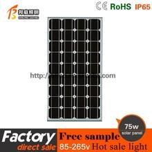 China solar panel 75W monocrystalline solar panel price