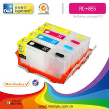 655 for HP655 use for HP 4625 5525 6525 refill ink cartridge with new chip