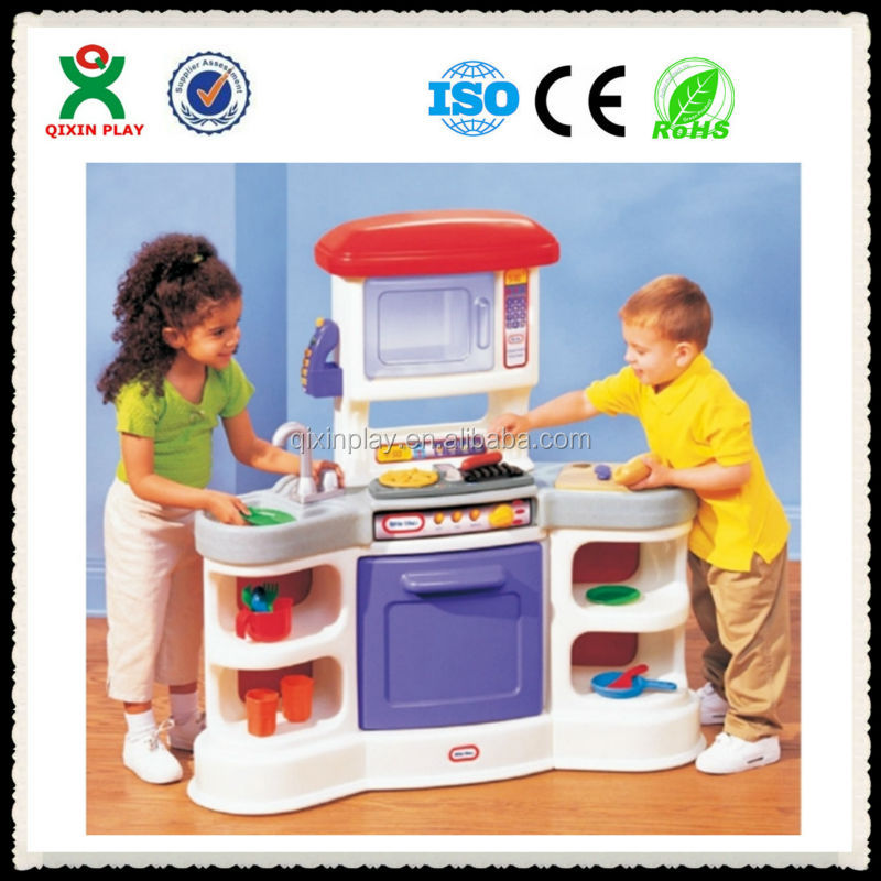 Hot sale home make delicious food kids kitchen set toy for Kids kitchen set sale