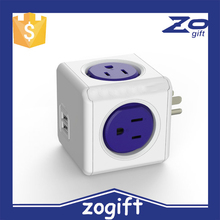 ZOGIFT Power Cube Extended USB, Electric Outlet Adapter 5ft Extension Cord Power Strip