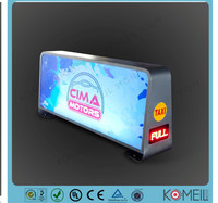 New design taxi top advertising sign/taxi advertising top light box from China E1