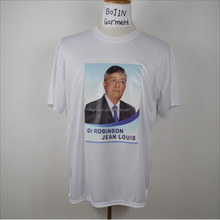 custom cheap polyester election t shirt with face heat tranfer printing