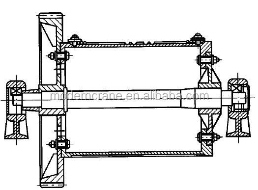 electric hoist wire rope drum