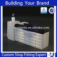 cloth shop commercial service corian reception counter table