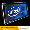 Crystal led light box with black frame and white panel for advertise/decoration at home