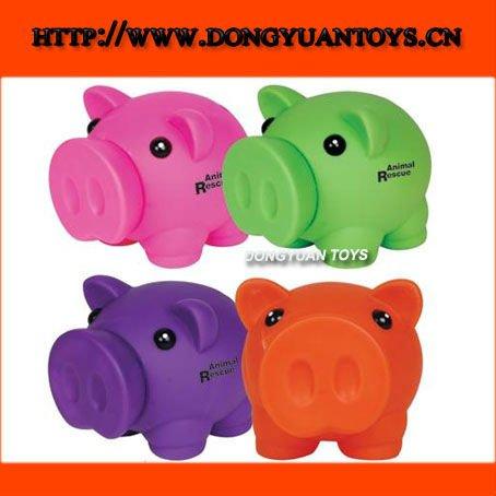Cerdo de la historieta del banco del dinero