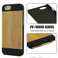 wholesale electronics usa cheap phone cases manufacturer for iPhone / blank PC wood phone case