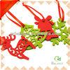 Handmade craft felt ornament for christmas