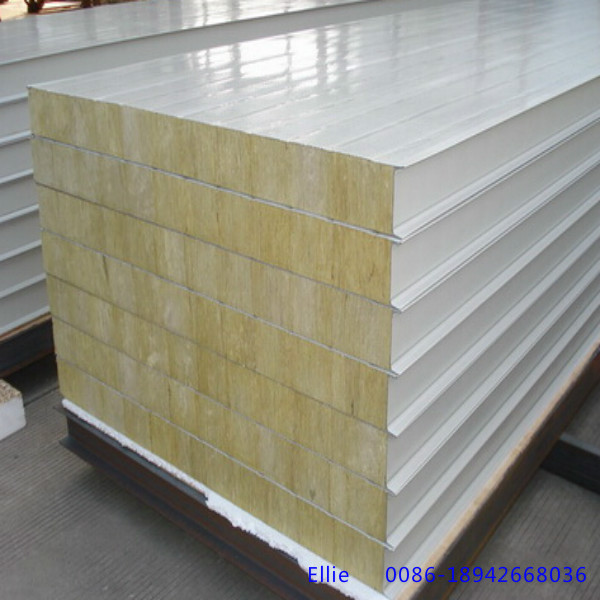 Mineral Wool Sandwich Panel : Metal panel material and rock wool sandwich panels type