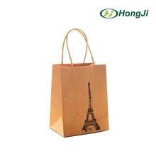 Recycle OEM Print Brown Kraft Paper Bag Shopping Paper Bag