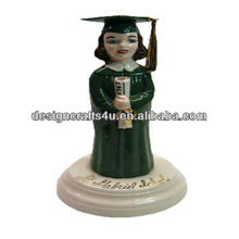 Vintage Ceramic Girl Graduation With Diploma Decorations