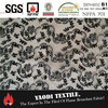 High quality 100 polyester fire resistant flocked sheer curtain fabric