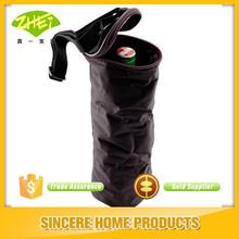Wine Bottle Cooler Bag - Black - Padded & Insulated with Shoulder Strap & Pocket