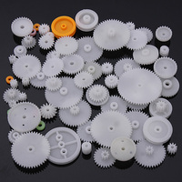 64pcs Type Plastic Shaft Single Double Reduction Crown Worm Gears DIY For Robot